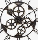 Extra Large Industrial Style Skeleton Wall Clock Bronze Finish Metal 80cm